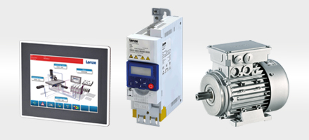 Three devices that achieve perfect interplay: Inverter i500, Panel Controller p300, and Lenze MF Motor.