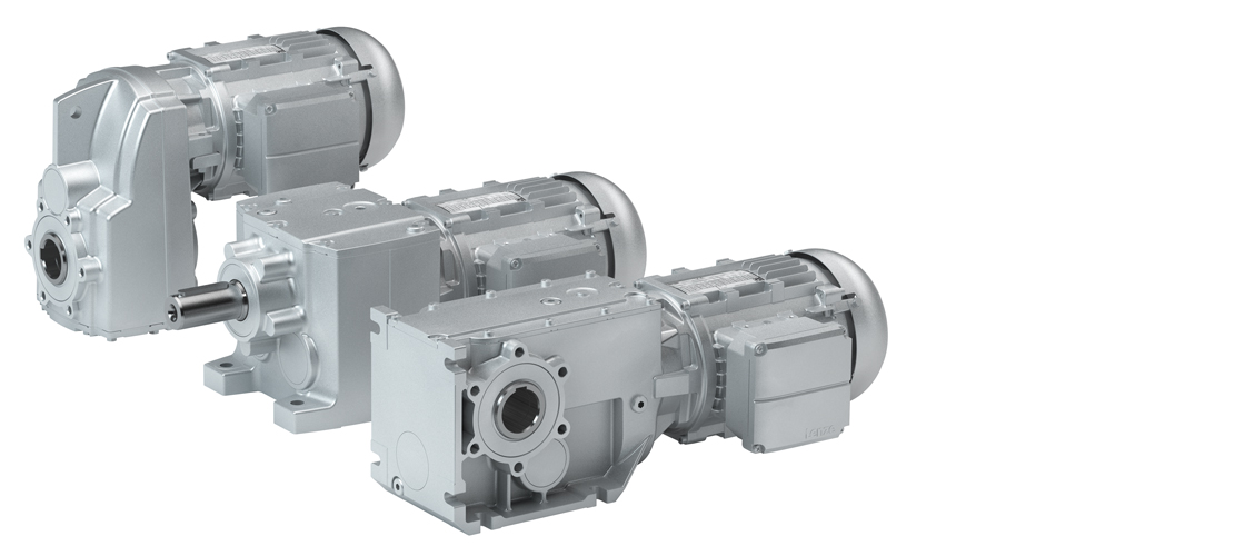 Lenze g500-H helical gearbox geared motors and g500-B bevel gearbox geared motors