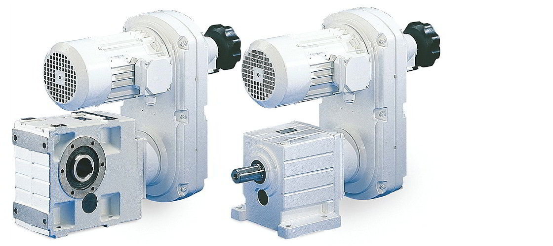 Lenze GST helical gearboxes with mechanical adjustment geared motors